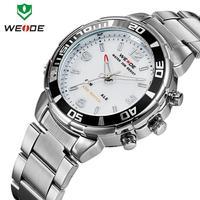 Quartz Analog Casual Sports Wristwatch Original WEIDE Luxury Brand Watches Men Stainless Steel 30M Waterproof Japan Movement