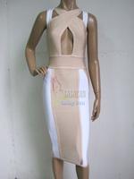Newest Cute Girl 2014 Top Quality HL kim kardashian Bandage dresses evening celebrity Dresses Drop Shipping
