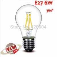 5PCS High Power E27 4W 6W 8W 4LED Chips LED Bulb Light Lamps Glass Globe Lamp Edison Filament bulb WarmWhite 110V-240V
