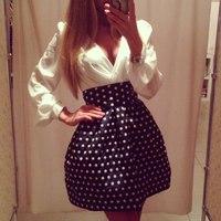 2014 new fashion women sexy dresses long sleeve v-neck dot tunic dress casual dress