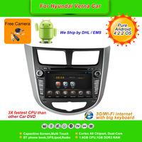 Pure Android 4.2.2  7''Car DVD Player for HYUNDAI Verna 2011-12,AutoRadio,GPS,Navi,Multimedia,Radio,Ipod,Free Cam,Free shipping