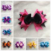 16 colours mix Ribbon Hair Bows Sculpture Hair Clippie fashion children accessory free shipping