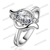 R646-B 925 Silver plated new design finger ring for lady