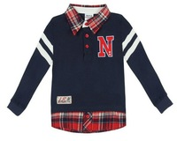 Retail 2014 Spring autumn winter 100% cotton baby polo shirt children girls Brand t-shirt  baby Pleated t-shirt