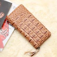 New Arrival Winter Fashion Crocodile Wallet for Women,High Quality Women's Wallet Zipper Clutch Purse Lady Gift