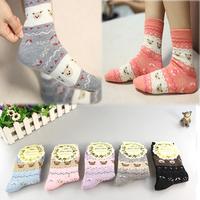 New  2014 winter Wool socks women thermal winter rabbit wool socks female thickening towel 100% cotton socks meias gift sock