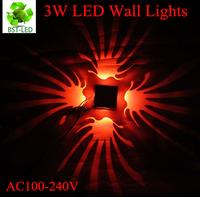 1X 3W Modern Mini LED Wall Lamp  stage light effect wall arandela KTV light aluminum led wall lights different color