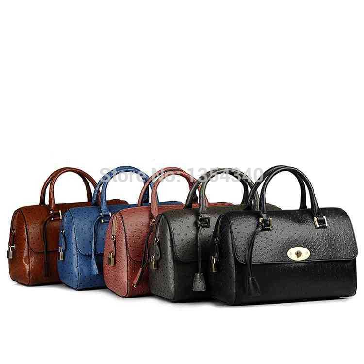 New arrival fashion Women's Messenger Bags Korean style Ladies bolsas femininas Fake Ostrich women leather handbags 5 color(China (Mainland))