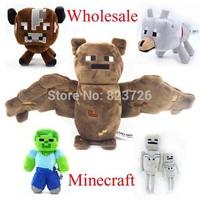 100Pcs Minecraft Baby Toys Minecraft Doll MC Plush Toys 16-36CM Cow Bat Wolf Zombie Skeleton Doll Toys EMS Free Shipping
