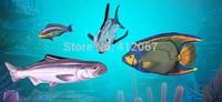 Colorful Cute Casual Unisex 3D Cartoon fish Ocean Shark messager bags for men women ladies Kids bag Animal