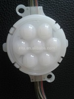 50mm diameter DC24 UCS1903 LED pixel module with milky cover with lens;6pcs 5050 led;1.44W;rgb full;addressable