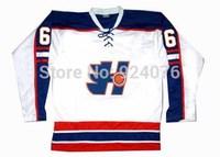 Doug The Thug Oleg Yakovlena #6 Halifax Highlanders Jerseys GOON Movie Hockey Jersey White