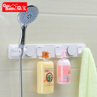 Free shipping multifunctional bath shelves with shower holder+lotion holder+towel hook high-class bath accessories GB264002