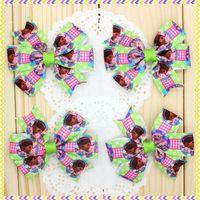 3.1'' Free shipping doc Ribbon Bows with hair clip headband headwear hairbow diy decoration wholesale OEM P3551