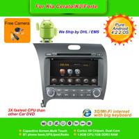 Pure Android 4.2.2  8''Car DVD Player for KIA k3,AutoRadio,GPS,Navi,Multimedia,Radio,Ipod,Free Cam,Free shipping