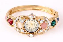 2015 New women watch ladies birthday gift fashion beautiful Wristwatches crystal women/ladies Jewelry bangle