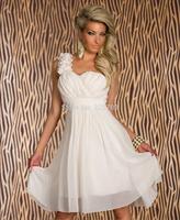 New women shoulder Bra wedding dress, bridesmaid dress beautiful flowers / wedding short dress / for banquets, parties