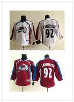 Cheap Colorado Avalanche Hockey Jerseys #92 Gabriel Landeskog Jersey Third Steel Blue Gabriel Landeskog Stitched Jersey C Patch