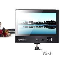 7 inch LCD Digital DSLR Video Monitor With HDMI YPbPr AV Port for DSLR Cameras Double Power Supply