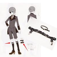 Cosplay  Rievt punk harajuku 2014 sexy garter belt leather harmes belt for stockings costume legging ring garters