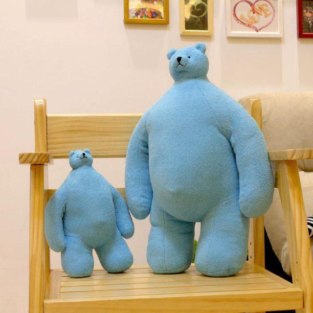 New hotsale 28cm Cartoon small head bear plush toys super cute High Quality Soft Stuffe animals Dolls for kids free shipping(China (Mainland))