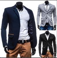 2014 Autumn New Fashion Style Blazer Men, Slim Top design Suit ,Korean Slim Suit Coats Size M-XXL