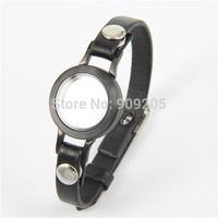 Christmas Gift High Quality Black Floating Locket Bracelet for Men/Women  1pcs/lot  FF195