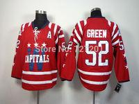 2014 Washington Hockey Jersey #52 Mike Green Cheap Ice Hockey Jersey Stitched Jerseys Free Shipping