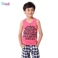 2014 Free Shipping Male's Summer Casual Shirts Sleeveless 1331602 O-neck Cotton Tees Blouses Vest Tops T-shirt for Boy