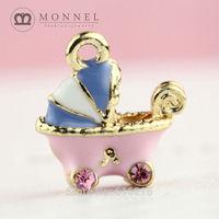H156b Brand New 3pcs Cute Lavender Baby Stroller Pendant Charm