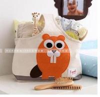 RO057 folding organic toys cartoon bin organic cotton open Storage Basket shopping bag  Drop shipping /Wholesale Free Shipping