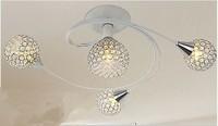 Modern LED k9 crystal chandeliers bedroom living room dining 4 head sphere chandelier