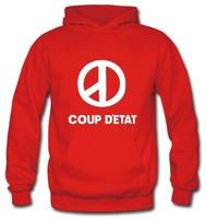 Autumn and winter sweatshirt with a hood bi for gba ng coup detat street hip-hop hiphop skateboard  Men's sports coat jacket