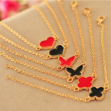 Korean small wholesale jewelry fashion small heart love clover Bracelet oil dripping jewelry mixed batch(China (Mainland))