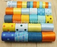 32 yards Retail ribbon set foe craft diy bow, printed ribbon set and satin ribbon for wedding