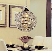 Modern LED k9 crystal chandeliers bedroom living room dining 20cm diameter sphere chandelier