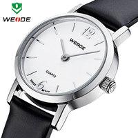 3ATM genuine leather straps watches analog Japan quartz movement ladies wrist watch Hot sale WEIDE fashion casual watch women