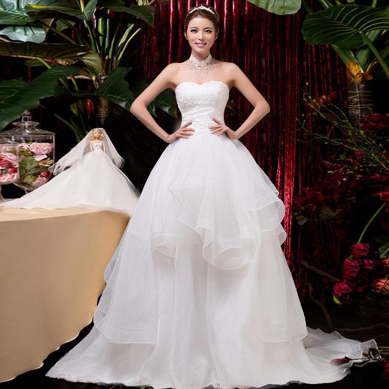 novo casamento coreano 2014 qi stomacher coreano vestido de casamento de casamento saia doce princesa 2147(China (Mainland))
