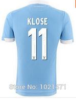 New 14 15 LAZIO JERSEY soccer shirt 10 EDERSON best quality 2015 lazio kit 11 KLOSE jersey 14 KEITA BALDE shirt pant can custom