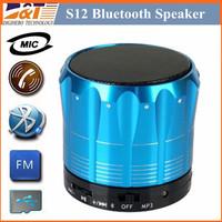 S12 Wireless Bluetooth Mini Portable Speaker Handfree Subwoofers Speakers For iphone 6 4s 5 5c 5s Samsung Phone MP3 HiFi TF Card