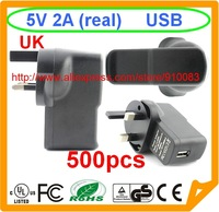 500 pcs 5V 2A EU USB UK Charger For Samsung Galaxy S5 I9500 S3 2A TOP speed charge For note 4 Galaxy NoteTable pc iphone 5S 6 6G