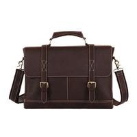 2014 New Vintage Style Men's Business Briefcase 14 Inch Computer Bag For Man Shoulder Bag Genuine Leather Handbag Messenger Bag