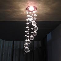 Modern LED k9 crystal chandeliers bedroom living room dining Aisle chandelier 3W AC110-260V diameter 8cm / height 30cm