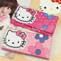 2 Colors Fashional Girl Hello Kitty Wallets Leather Bifold Clutch Wallet Long PU Card Horder Women Wallet Handbag Slim Purse