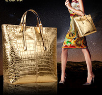 3pcs/set 2014 autumn fashion for Crocodile women's handbag messenger bag fashionable casual  bags