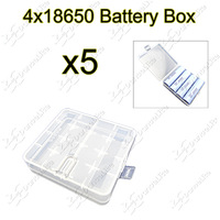 Promotion Gift ~ 5pcs/lot Soshine 4x18650 High Quality Battery Case 18650 Battery Holder Storage Box