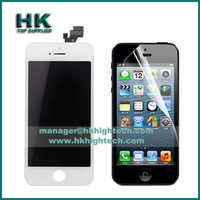 free shipping screen display replacement for iphone5 iphone 5 lcd assembly no dead pixels,clear screen protector*1