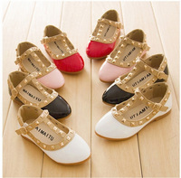new arrival girls sandals kids boots children rivets pu shoes 4colors casual sandals for 2-10 years girls