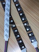 BLACK 5m DC5V Lpd8806 addressable pixel RGB strip,60leds/m with 30pcs(60pixels) LPD8806 IC 5050 smd rgb led chip;non-waterproof