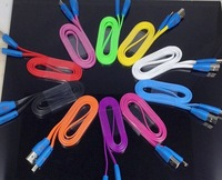 10pcs 1M Cute Smiling Face Lighting Cable V8 Noodle Charging & Sync Data Cord for Samsung Galaxry S3 i9300 Note2 N7100